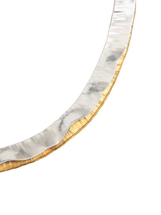 Soft Wave Necklet in Silver Main Fold Detail